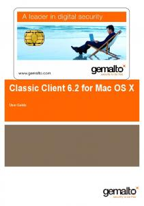 Classic Client 6.2 for Mac OS X. User Guide