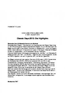 Classic Days 2013: Die Highlights