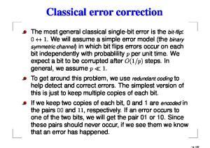 Classical error correction