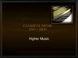 Classical Music Higher Music