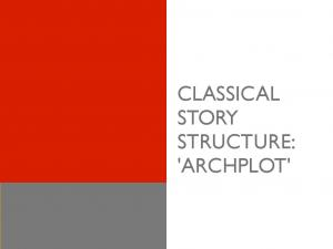 CLASSICAL STORY STRUCTURE: 'ARCHPLOT'