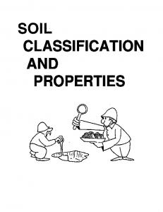 CLASSIFICATION AND PROPERTIES
