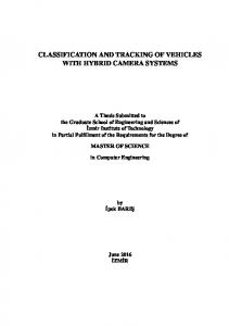 CLASSIFICATION AND TRACKING OF VEHICLES WITH HYBRID CAMERA SYSTEMS