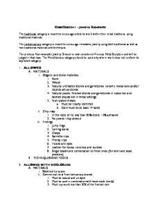 Classification I Jewelry Standards