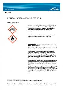 Classification of dangerous substances 1