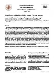 Classification of facial wrinkles among Chinese women