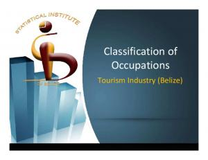 Classification of Occupations. Tourism Industry (Belize)
