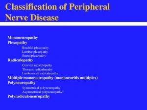 Classification of Peripheral Nerve Disease