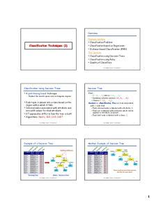 Classification Techniques (2)
