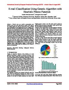 Classification Using Genetic Algorithm with Heuristic Fitness Function