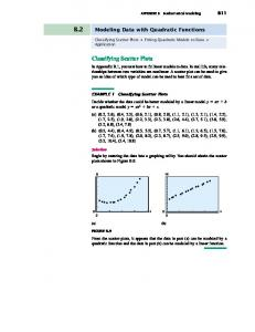 Classifying Scatter Plots