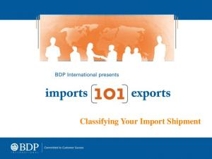 Classifying Your Import Shipment