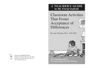 Classroom Activities That Foster Acceptance of Differences