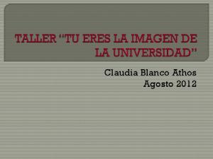 Claudia Blanco Athos Agosto 2012
