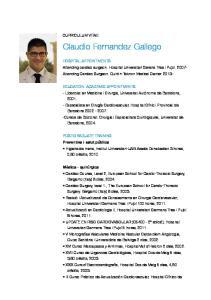 Claudio Fernandez Gallego