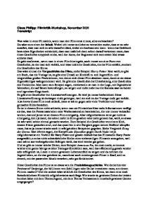 Claus Philipp: Filmkritik-Workshop, November 2001 Transkript