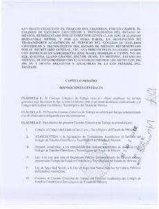 CLAuSULA 2.- EI Presente Contrato Colectivo de Trabajo se celebra por tiempo indeterminado yes de observancia obligatoria para los contratantes