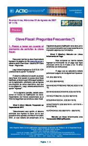 Clave Fiscal: Preguntas Frecuentes (*)