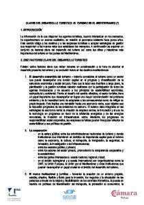 CLAVES DEL DESARROLLO TURISTICO: EL TURISMO EN EL MEDITERRANEO (*)