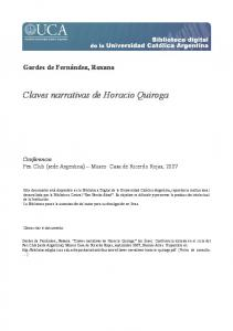 Claves narrativas de Horacio Quiroga