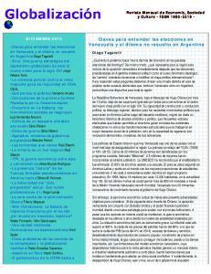 Claves para entender las elecciones en Venezuela y el dilema no resuelto en Argentina