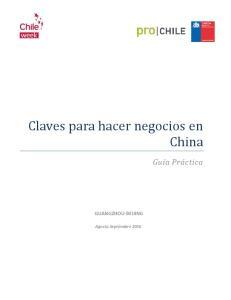 Claves para hacer negocios en China