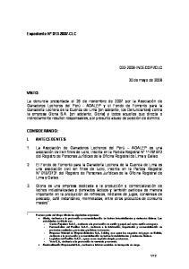 CLC. 30 de mayo de 2008 VISTO: