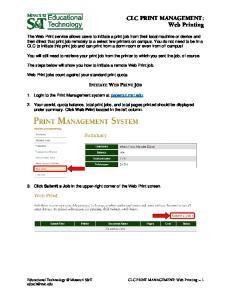 CLC PRINT MANAGEMENT: Web Printing