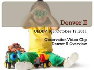 CLDDV 163: October 17, Observation Video Clip Denver II Overview