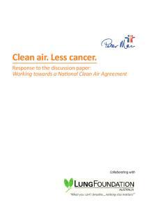 Clean air. Less cancer