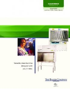 CLEAN BENCH Products. Laminar-Flow Clean Bench