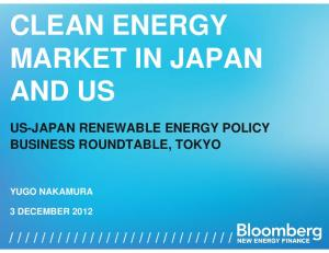 CLEAN ENERGY MARKET IN JAPAN AND US
