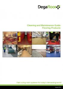 Cleaning and Maintenance Guide Flooring Products