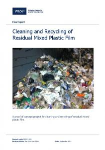 Cleaning and Recycling of Residual Mixed Plastic Film