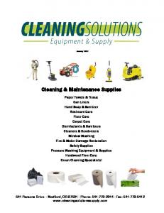 Cleaning & Maintenance Supplies
