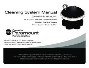 Cleaning System Manual
