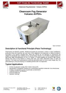 Cleanroom Fog Generator Volcano AVP24+