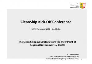 CleanShip Kick- Off Conference