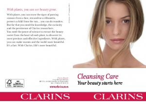 Cleansing Care. Your beauty starts here. With plants, you can see beauty grow