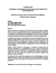 CLEPSO.FLECSO I CONGRESO LATINOAMERICANO DE ESTUDIANTES DE POSGRADO EN CIENCIAS SOCIALES