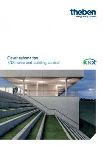 Clever automation KNX home and building control