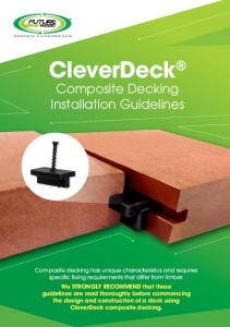 CleverDeck Composite Decking Installation Guidelines
