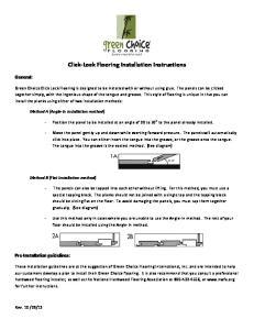 Click Lock Flooring Installation Instructions