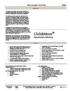 Click&Move Automation Solution