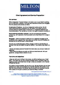 Client Agreement and Service Proposition