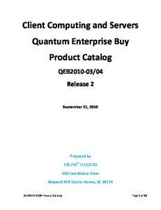 Client Computing and Servers Quantum Enterprise Buy Product Catalog