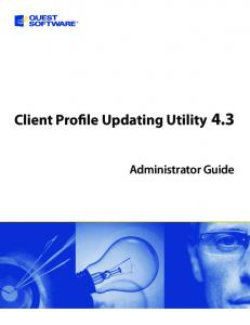 Client Profile Updating Utility 4.3. Administrator Guide