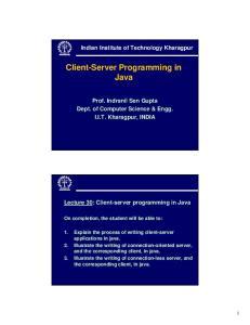 Client-Server Programming in Java