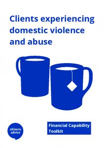 Clients experiencing domestic violence and abuse