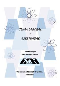 CLIMA LABORAL Y ASERTIVIDAD